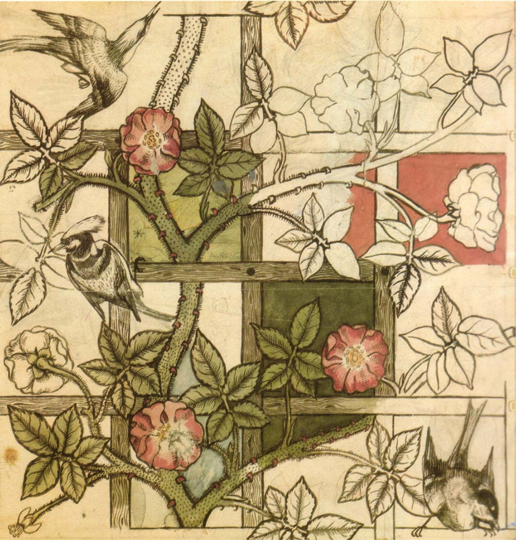 Papel pintado Trellis de William Morris 1862